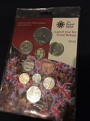 2012 Commemorative Royal Mint Coins Of The Year Full Set Of 10 Uncirculated