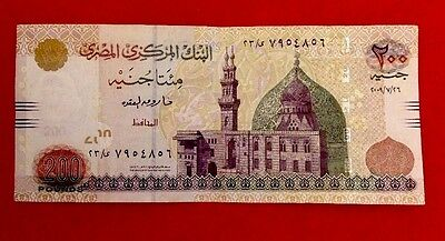 EGYPT * Two Hundred Egyptian Pounds 2009 BANKNOTES In Good Condition