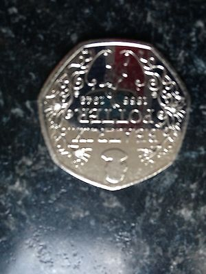 50p Coin Uncirculated Beartrix Potter Anniversary
