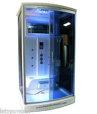 2 Person Steam Shower Cabin ,Aromatherapy, Bluetooth,6 Year US Warranty