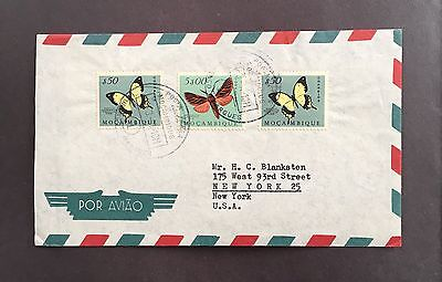 Mozambique Portuguese East Africa 1961 Cover Butterfly Butterflies