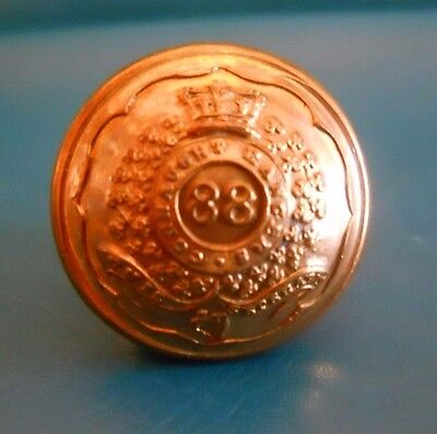 Officers Gilt Button .88Th -Connaught Rangers  Regt Of Foot.