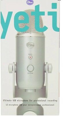 New & Sealed Blue Microphones Yeti USB Microphone Stereo Mic PC MAC  Silver