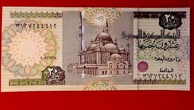 Egypt 20 Pounds Paper Money UNC Issued 11/18/2004