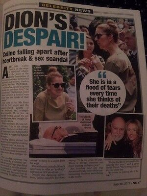 2x Celine Dion - RARE Cutting + Article (National Enquirer 18.7.16)