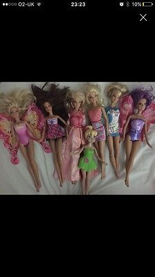 Barbie doll bundle and tinkerbell doll