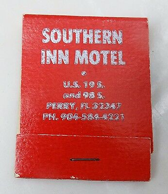 Rare Old Southern Inn Perry Florida Fl Matchbook - Us 19 & 98 South - Scarce Wow