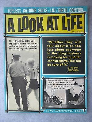 November 1964 A Look At Life Magazine First Issue Vol. 1, No.1