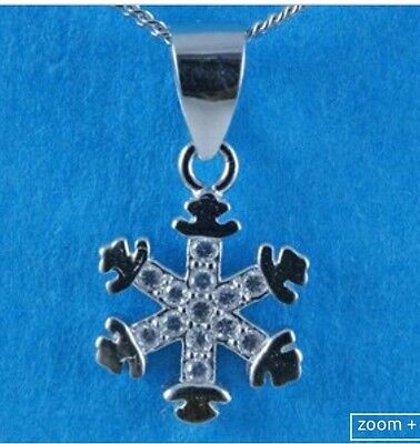 """sterling silver 925 snowflake Pendant With 18"""" Chain"""