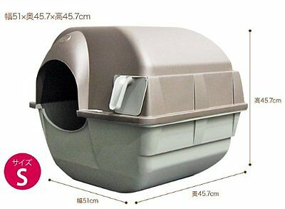Self Cleaning Cat Litter Box Large Roll Kitty Pewter Scoop Automatic Kitten wast