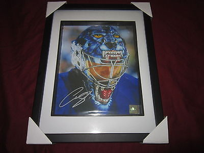 Curtis Joseph Signed Toronto Maple Leafs Signed Framed 8 X 10 Shadow Box