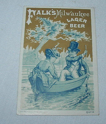 FALK'S Lager Beer Brewery TRADE CARD Advertising Premium Milwaukee WI No.6