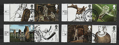 1) GB Stamps 2017 Ancient Britain Full Set. V. Fine Used .