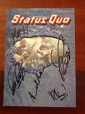 STATUS QUO Personally Signed Autograph Card. Rick Parfitt, Rossi. With Letter