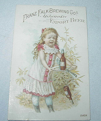 FALK'S Lager Beer Brewery TRADE CARD Advertising Premium Milwaukee WI No.9