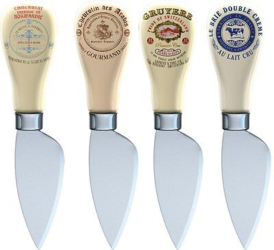 Creative Tops Vintage Style Gourmet Cheese Knives in Gift Box, Set of 4,