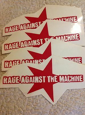 Rage Against The Machine Band Logo 4 Red die cut stickers  Free Shipping
