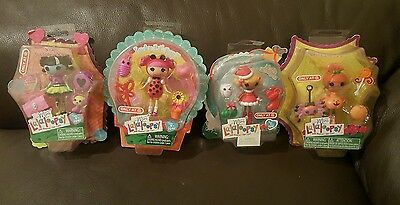 NEW Mini Lalaloopsy Target Exclusive Dolls Scraps, Pumpkin, Noelle & Lil bug