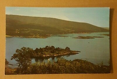 Caladh island and the kyles of bute vintage postcard unused