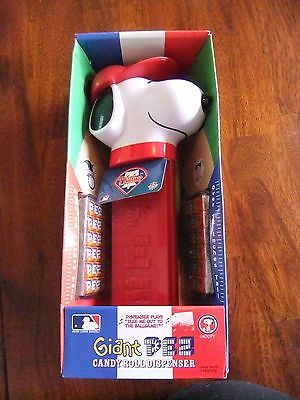 "Snoopy Giant Pez Baseball Team Phillies 12"" Tall Plays Music 2005"