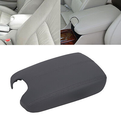 For 2008-2012 Honda Accord Gray PU Leather Console Center Armrest Cover Lid