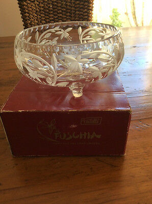 crystal bowl with feet -