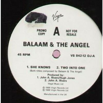 """BALAAM AND THE ANGEL She Knows 12"""" VINYL UK Virgin 1986 4 Track Promo B/W Two"""