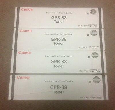 Canon GPR-38 Toner Black imageRunner Advance 6055/6065/6075 Lot Of 4 New Genuine