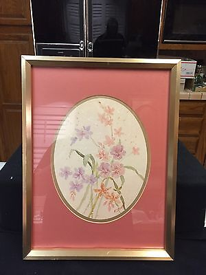 Home Interiors Double Matted Picture of Pastel Flowers By M STORM!!!