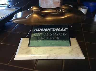 Rare Bonneville 1st place Win Trophy bronze