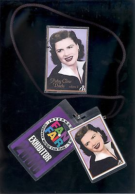 Patsy Cline Fan Fair and Patsy Cline Duets Backstage Laminate Pass and Cassette