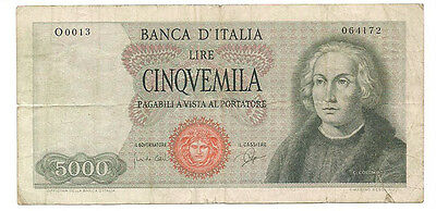 Italy - 1964 5000 Lire Banknote (P-98a) - Scarce!