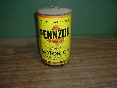 pennzoil motor oil  can  one imperial quart