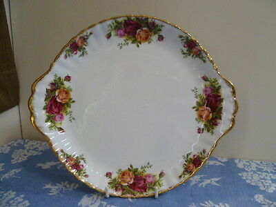 Vintage Royal Albert Made In England Old Country Roses  Cake Plate