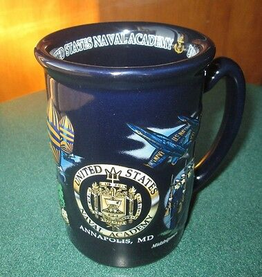 United States Naval Academy Mug Annapolis Maryland Midshipmen Blue Angels Cup