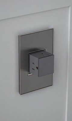 Legrand Adorne 1 Gang Ejectable Pop-out 15 Amp Outlet - Magnesium