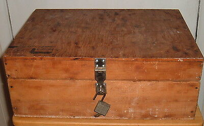 Vintage Hand Crafted Wood W/tray Utility Art Supplies Storage Box/chest