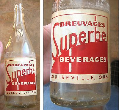 1950's RARE VINTAGE ACL OF SUPERBE LOUISEVILLE BY ALBANY HOULE QUEBEC 30 OZ