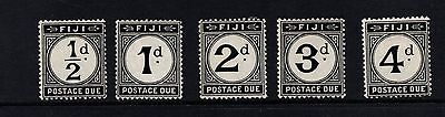Fiji 1918 Postage Dues Sg D6-D10 Mint Hinged