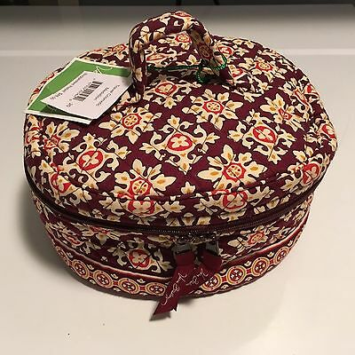 NWT Gorgeous Vera Bradley Large Lined Cosmetic Bag Retired Medallion Pattern