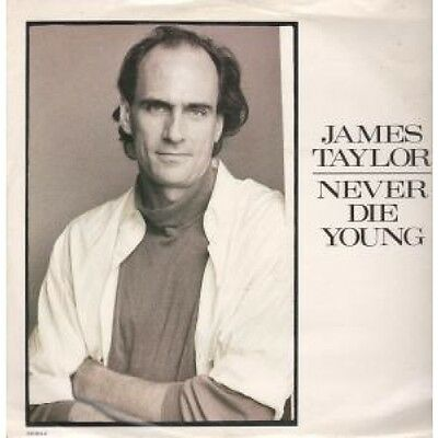 """JAMES TAYLOR Never Die Young 12"""" VINYL UK Cbs 1988 3 Track B/W Valentines Day"""