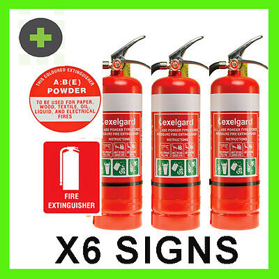 Fire Extinguisher 1kg ABE Car, Home, Boat,  x3 Units