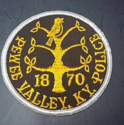 Vintage Pewee Valley, Kentucky 1870 Police Shoulder Patch Ky