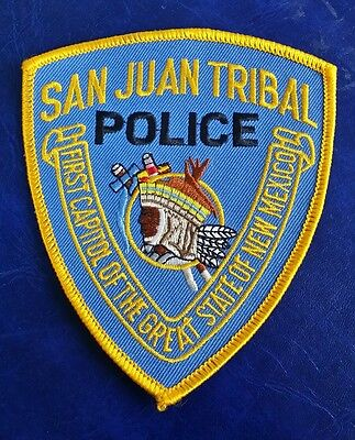San Juan, New Mexico Tribal Police Shoulder Patch Nm