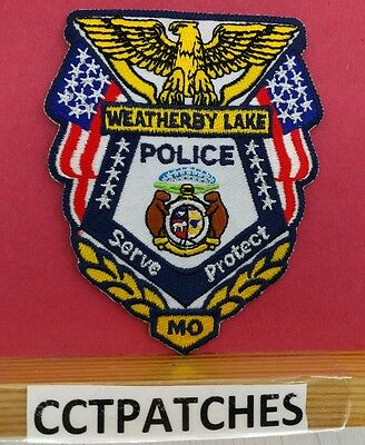 Weatherby Lake, Missouri Police Shoulder Patch Mo