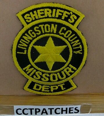Livingston County, Missouri Sheriff (Police) Shoulder Patch Mo