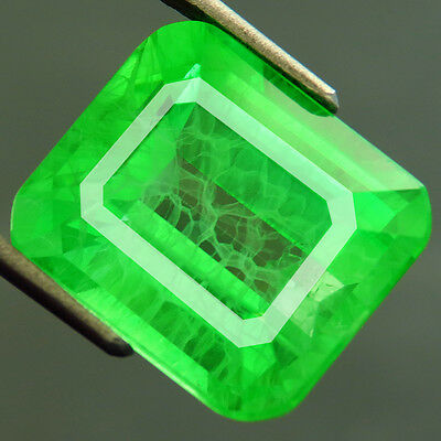 18.15ct Lab Created TOP COLUMBIAN EMERALD CHATHUM OCTAGON HAND CUT 12.5 x14.5 MM