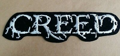 Creed White Heavy Metal Rock Band Patch