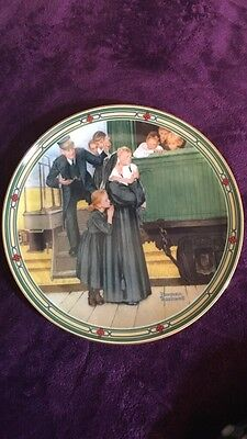 """2 Collectors Plates from the """"Rockwell's American Dream"""" Collection"""