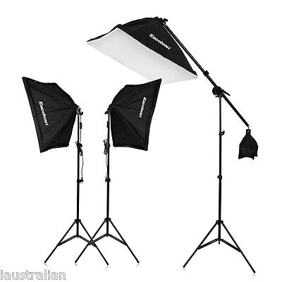 """Excelvan 2000W Photo Studio LED Continuous Lighting Kit  80"""" Light Stand"""